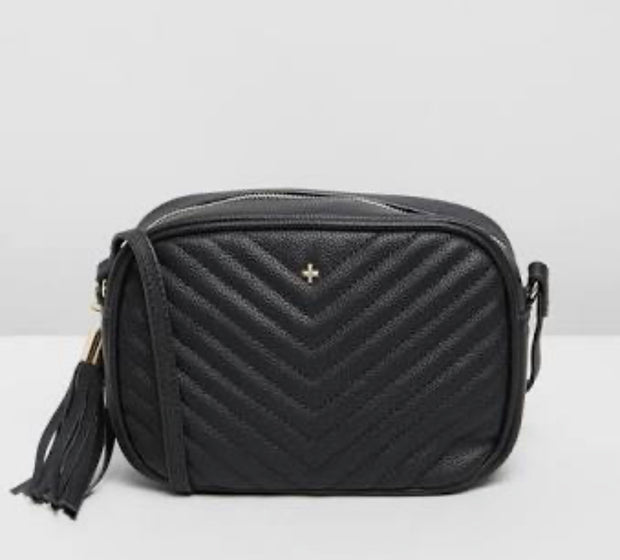 Peta and Jain Gracie Bag - Black Chevron Quilt
