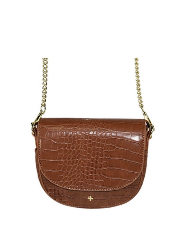 Peta and Jain Alex Tan Croc Saddle Bag | Mabel and Woods | Women's Fashion
