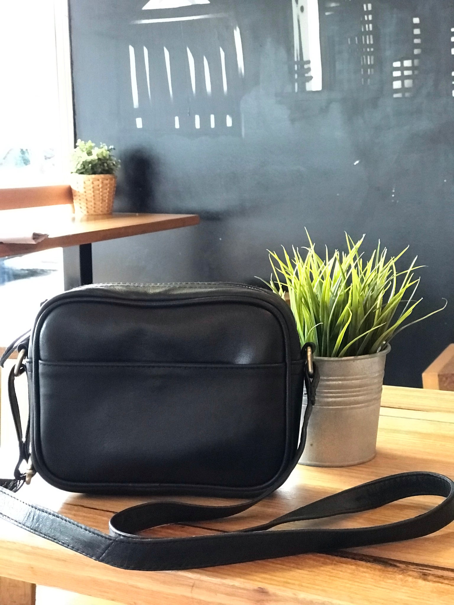 Sister Mabel Bag - Black Leather