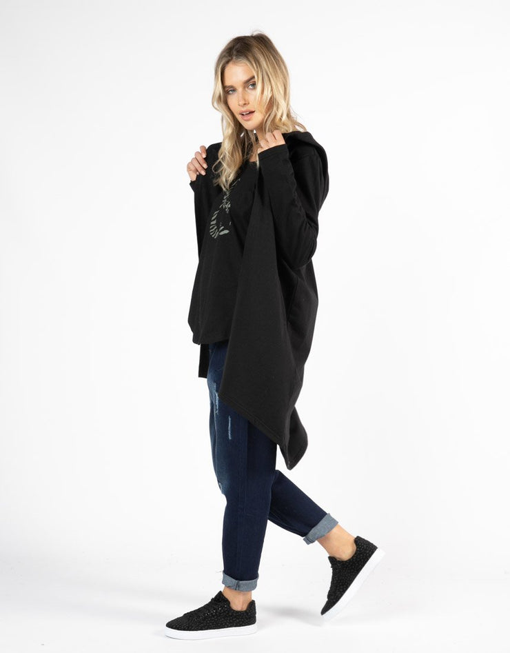 Jaden Hoodie - Black | Mabel and Woods | Women's Fashion