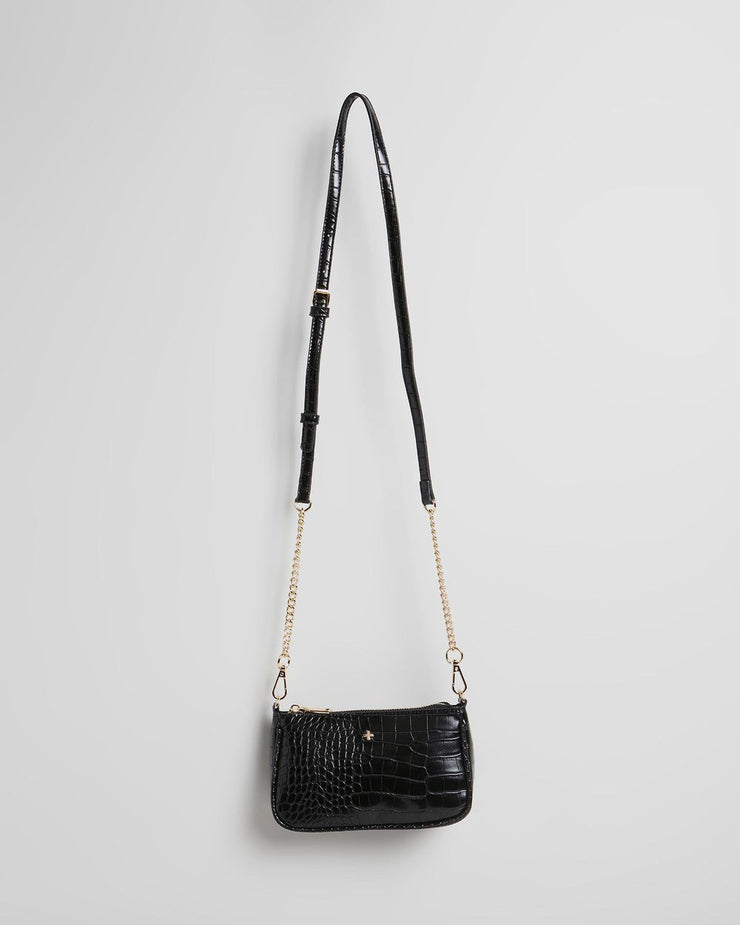 Peta and Jain Madrid Black Croc Bag | Mabel and Woods | Women's Fashion