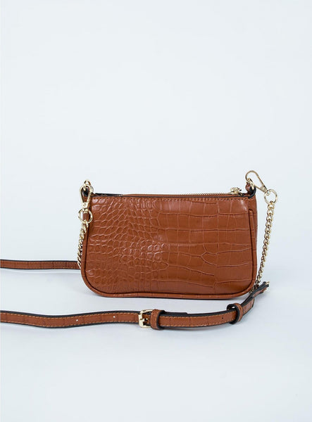 Peta and Jain Madrid Tan Croc Bag