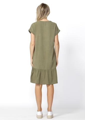 Ryland Dress (khaki) | Mabel and Woods | Women's Fashion