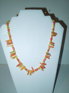 Coral and Mother of Pearl Necklace