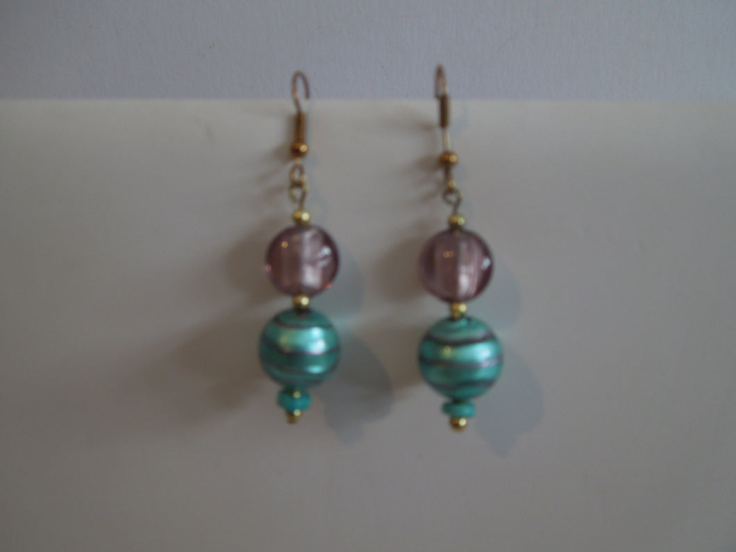 Rose and Turquoise Earrings