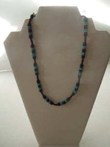 Jewelry - Wood and Turquoise Necklace