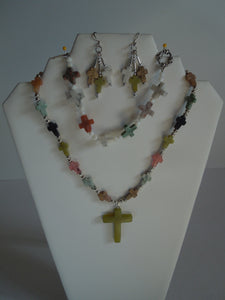 Jewelry - Multi-colored Gemstone Cross