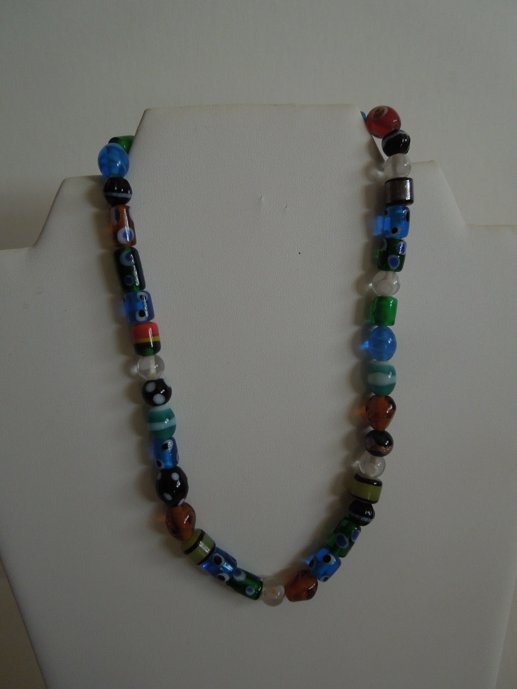 Multi-color Glass Beads on Elastic