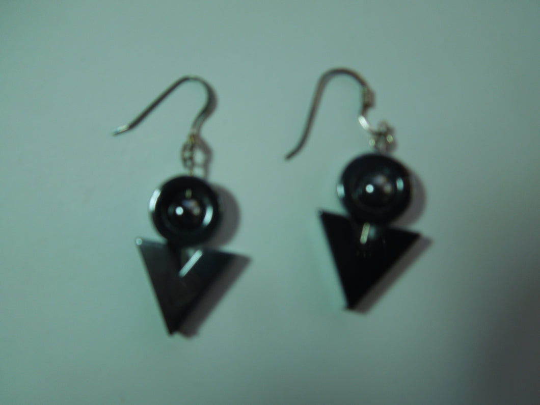 Gray Metal Earrings