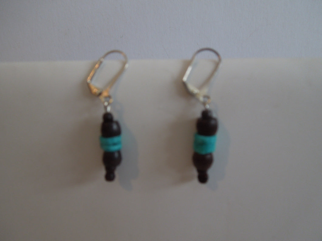 Brown and Turquoise Earrings