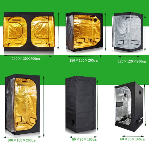 Grow tent 50/60/80/100/120/150/240CM Grow box 600D Indoor Grow room for hydroponics greenhouse plant lighting Tents