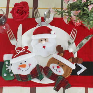 Christmas Cutlery Bags for Dining Table