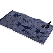 Cat Printed High Quality Towels 25x50cm