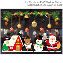 FENGRISE Wall Window Christmas Stickers Christmas Decoration For Home 2019 Merry Christmas Ornaments Xmas Happy New Year 2020