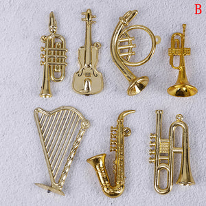Mini Plastic Musical Instrument Ornaments