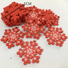 New Year 2020 Natural Snowflake Wood Pendant & Drop Ornaments Christmas Tree Wood Craft Xmas Tree Decorations for Home 2019 Noel
