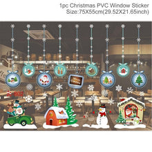 QIFU Christmas Decorations Window Sticker Christmas Decoration For Home Xmas Decor Merry Christmas 2019 Happy New Year 2020