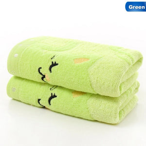 Jacquard Embroidered Cat Baby Towel