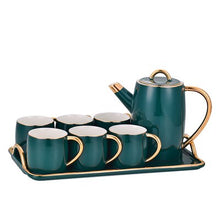 Japanese-style 8pcs Ceramic Coffee Set With tray