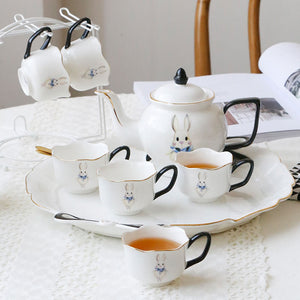 British Bone China Tea Set Rabbit Pattern