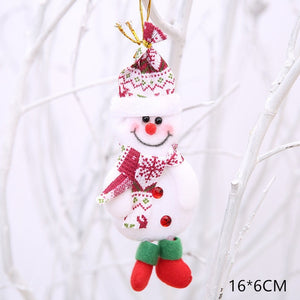 New Year 2020 Cute Christmas Dolls Santa Claus/Snowman/Elk Noel Christmas Tree Decoration for home Xmas Navidad 2019 Kids Gift