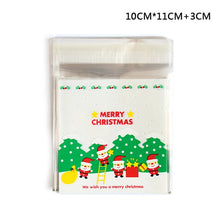 25Pcs/lot Cute Cartoon Gifts Bags Christmas Cookie Packaging Self-adhesive Plastic Bags For Biscuits Birthday Candy Cake Package