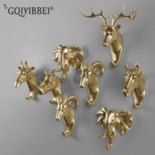 Resin Deer Head Animal Wall Hooks Decorative Clothes Display Rack Hook Coat Cap Rack Interior Showcase Wall Bag Key Organizer