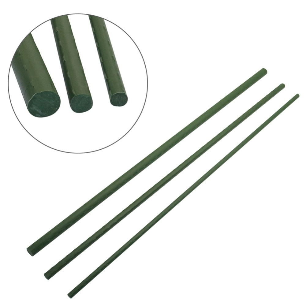 Plant support Greenhouse Gardening pillar Plastic coated steel pipe Climbing vine bracket Agriculture tools Flower support 6 Pcs