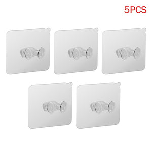 5pcs Strong Adhesive Hook Power Plug Socket Hanger Holder Wall Mounted Self Sticky Hooks Multi-function Wall Storage Hooks