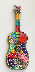 Patchwork Painted Guitar