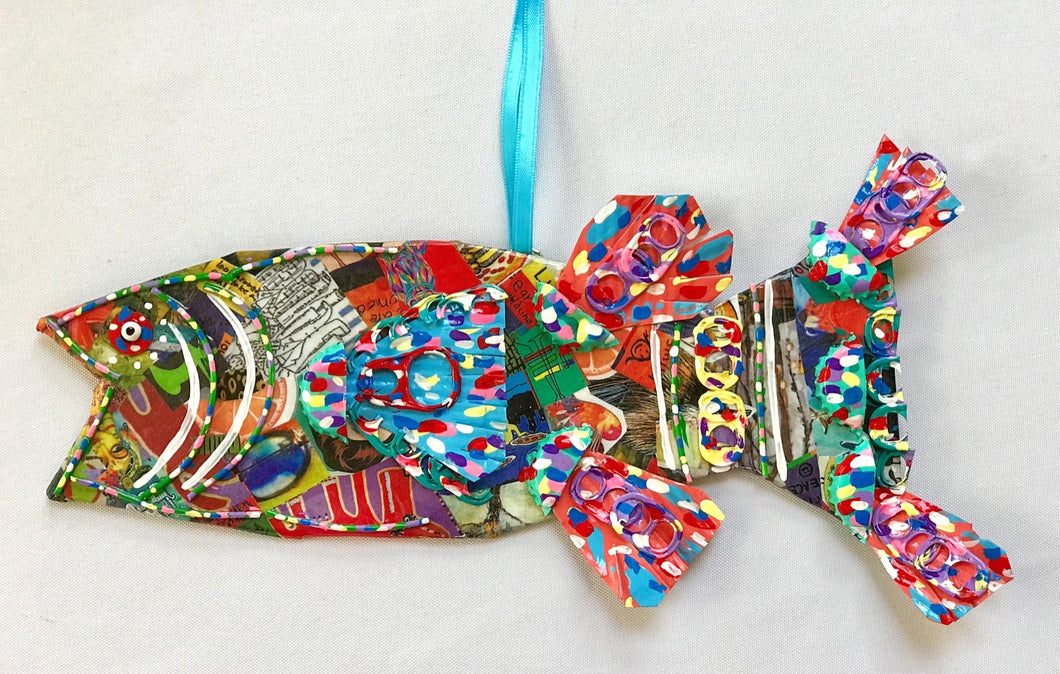 Mixed Media Fish (Large #4)