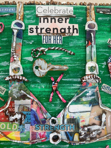 Celebrate Her Inner Strength (temporarily out on display at MUSC Mammography Center for Breast Cancer Awareness Month)