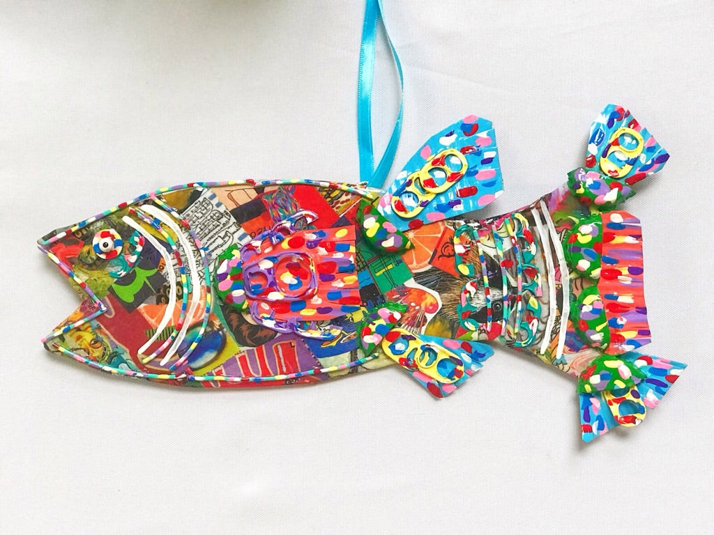 Mixed Media Fish (Large #3)