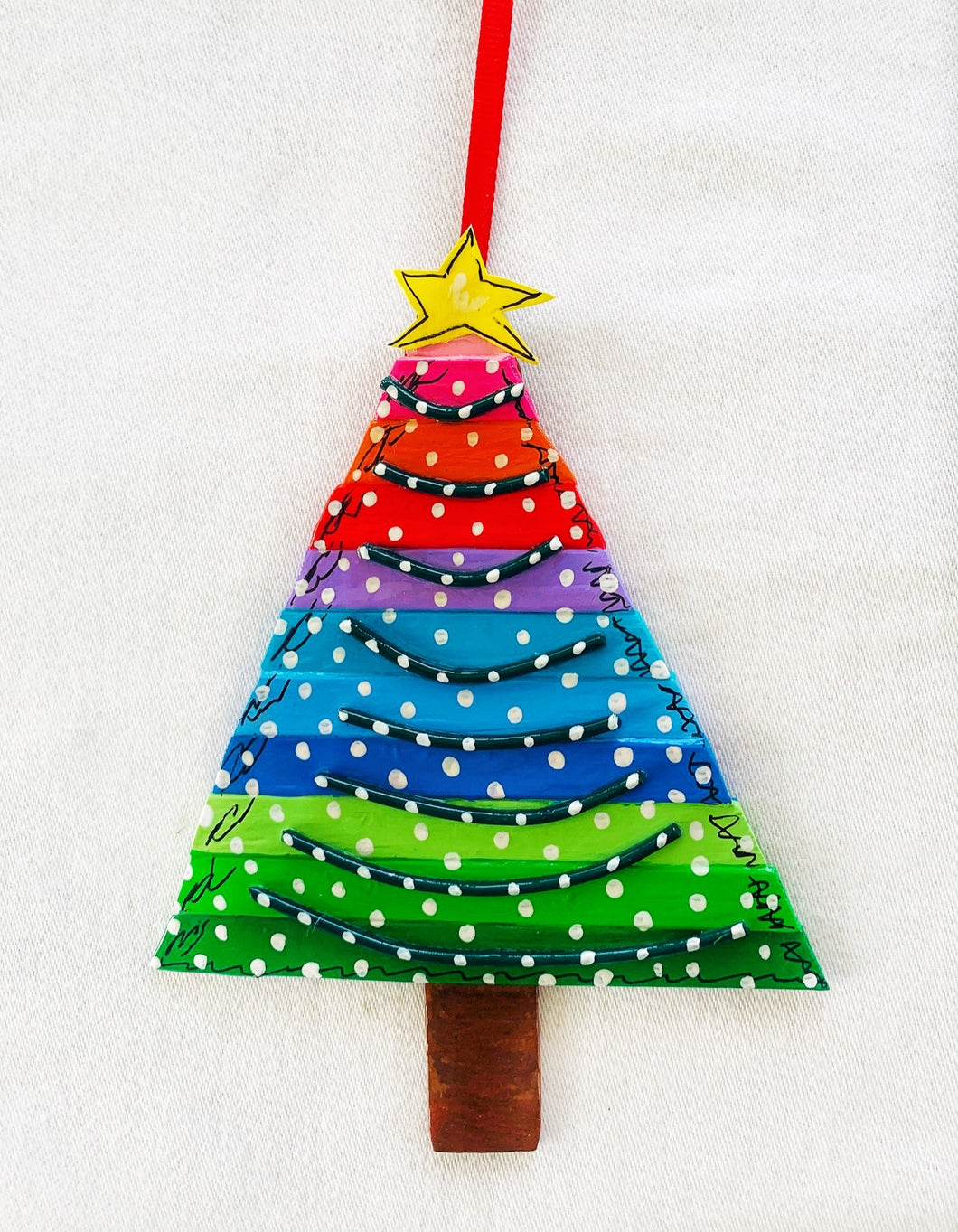Rainbow Christmas Trees