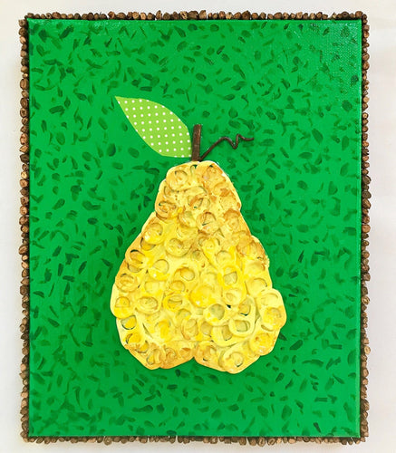 Yellow Pear on Green