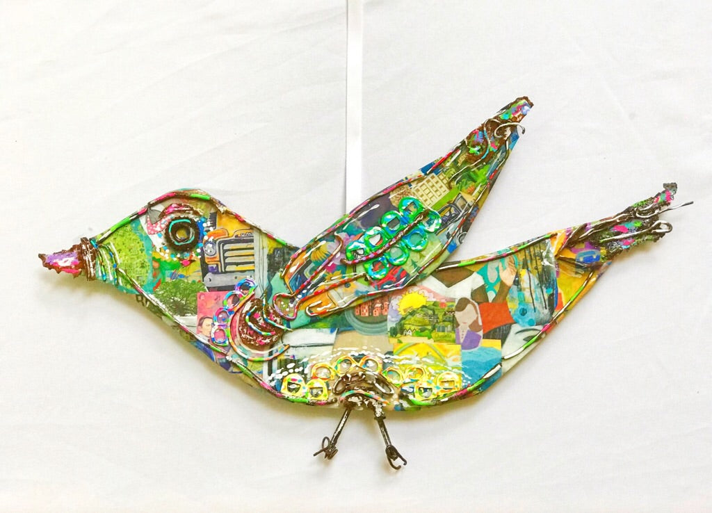 Mixed Media Bird (large)