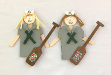 Captain Ornaments With Paddle (Greys and Greens)