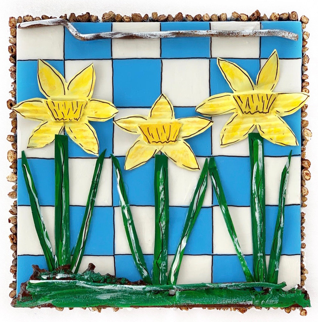 Daffodils are better on Blue