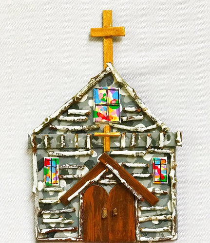 Little Stone Church Ornament