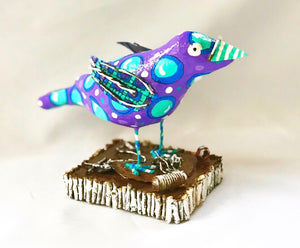 Mr Purple Bird (Sorry..this one is gone but I would be happy to make you something similar.)