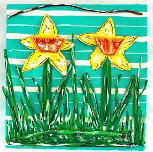Tin can Daffodils (Sorry..this one is gone but I would be happy to make you something similar.)