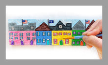 A Rainbow Row of Cottages