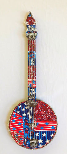 Red, white and Blue Banjo