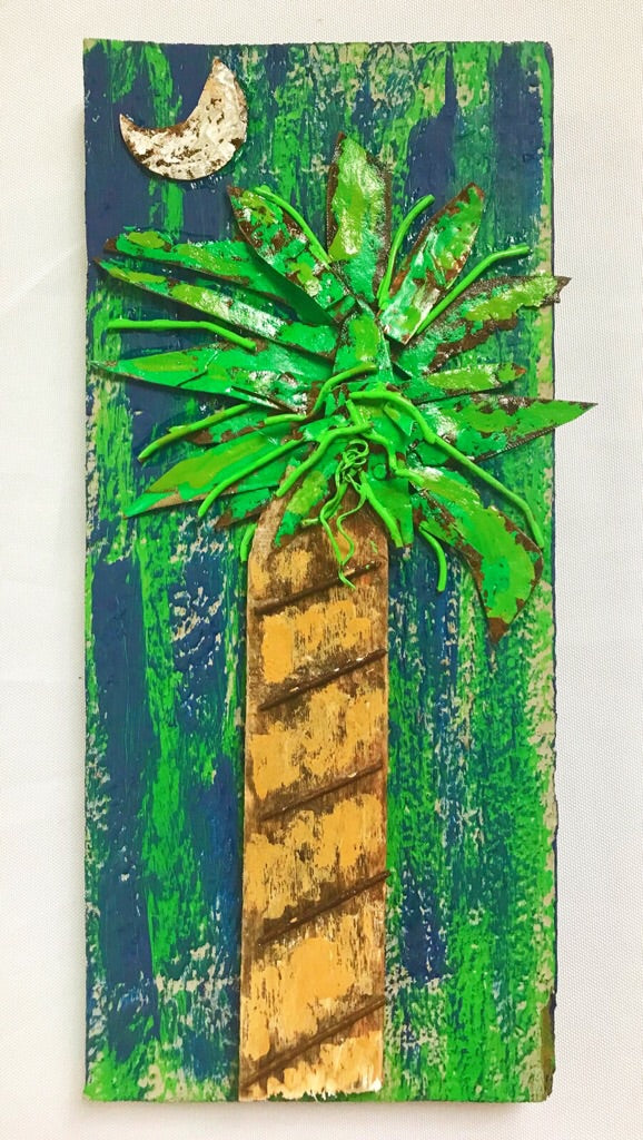 Tall Palmetto Tree Plaque