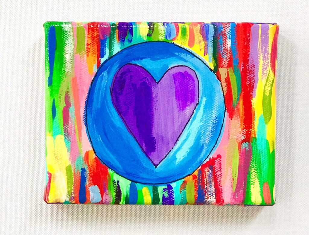 Little Purple Heart Painting