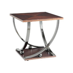 Dark Gray End Table for Living Room Side Table/Coffee Table In Black Nickel BH80357