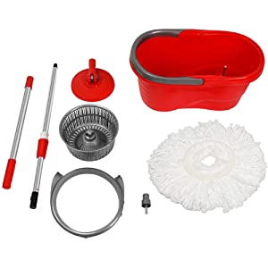Small Potable Spin Mop Bucket System- Spacing Save Household Cleaning Kit