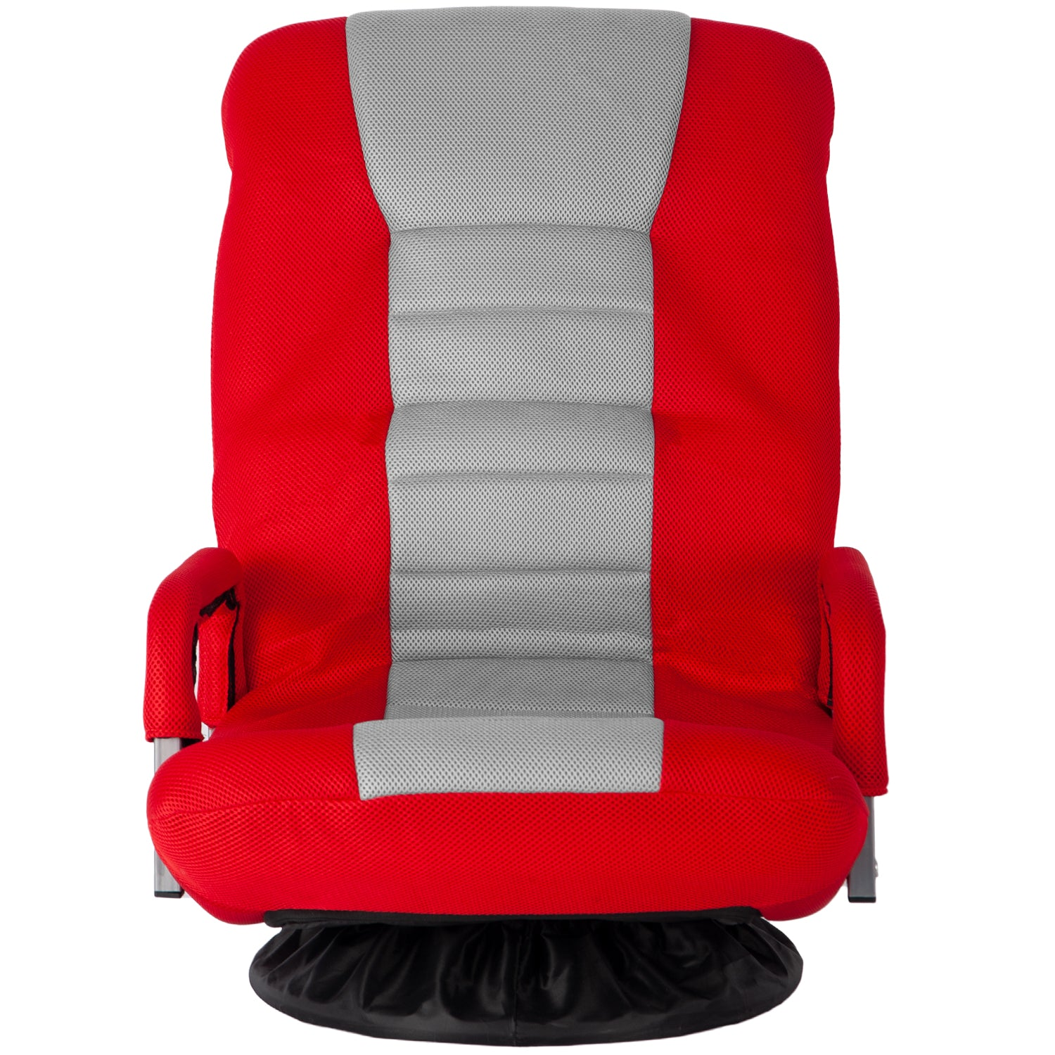 Firebrick Swivel Video Rocker Gaming Chair Adjustable 7-Position Floor Chair Folding Sofa Lounger BH037464