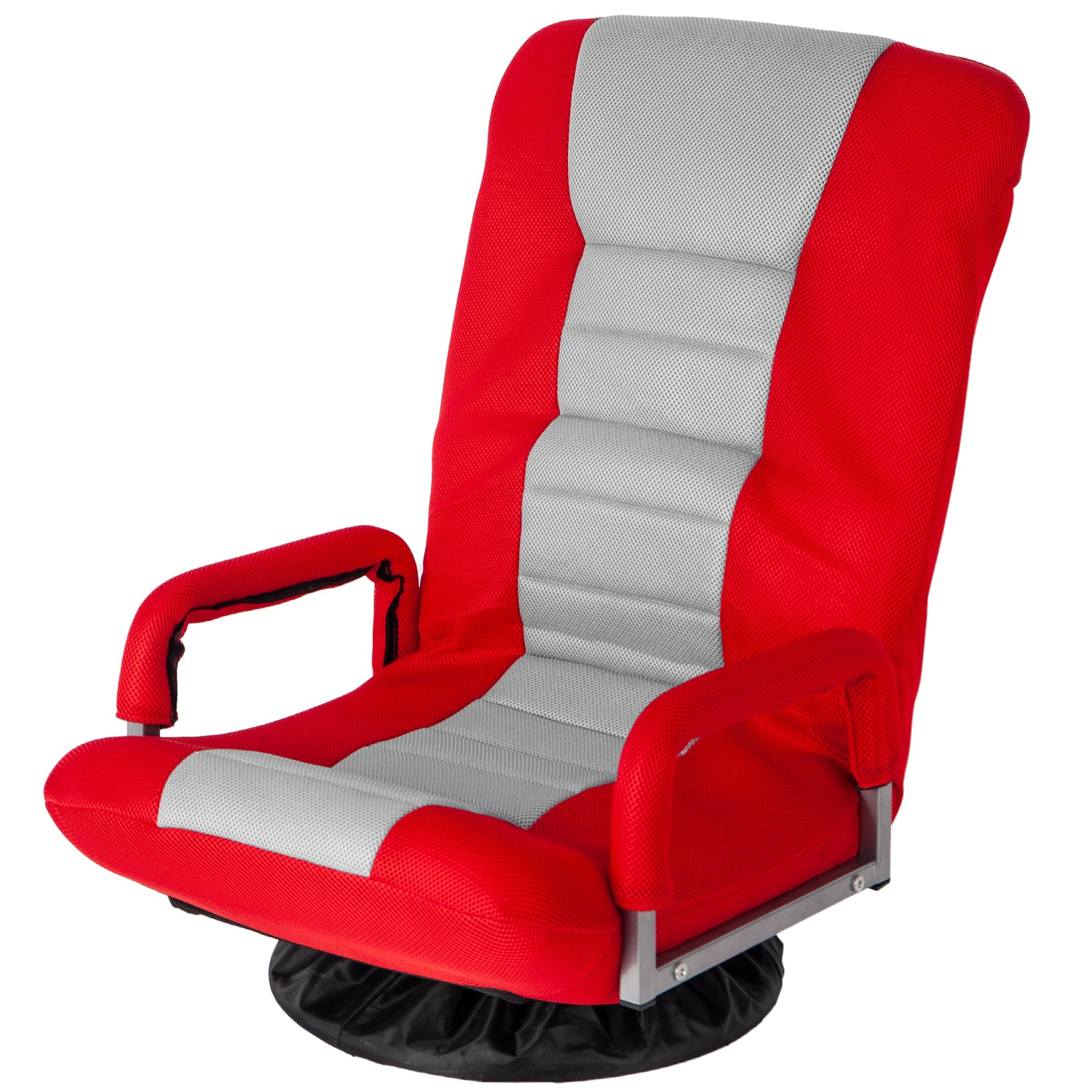 Red Swivel Video Rocker Gaming Chair Adjustable 7-Position Floor Chair Folding Sofa Lounger BH037464