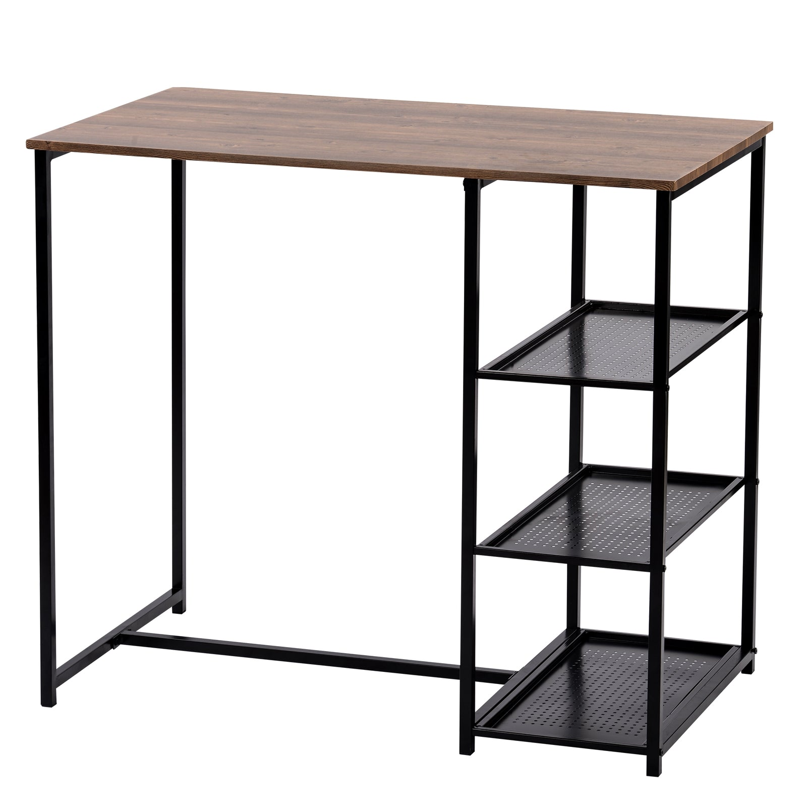 3 Counts - Modern Pub Set with Rectangular Table and Bar Stools - Black Table